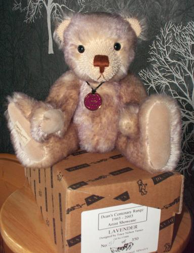 DEANS Limited Edition Mohair Bear LAVENDER by TRACEY NELSON TURNER