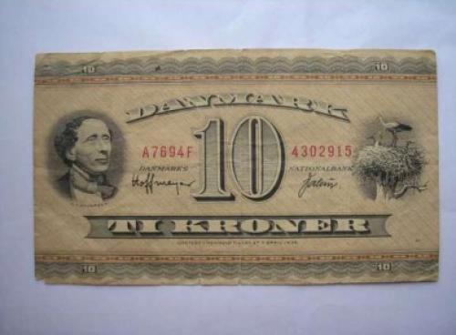 Denmark 10 kroner 1969