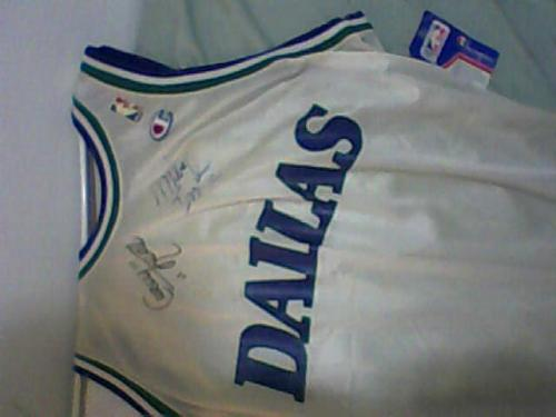 Curly Neal and Mike Iuzzolino Autographed Mavs Jersey