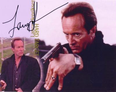 Lance Henriksen autographed Hard Target 8x10 photo
