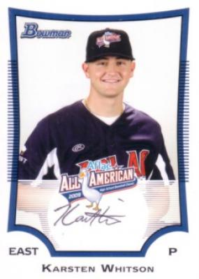 Karsten Whitson autographed 2009 AFLAC Bowman Rookie Card