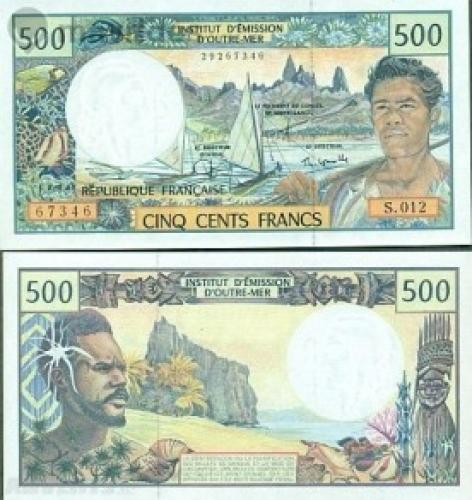 French Pacific territories - 500 francs, 1985