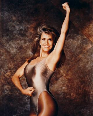 Jane Fonda 8x10 workout photo