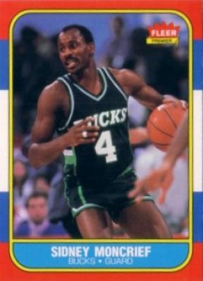 Sidney Moncrief Bucks 1986-87 Fleer basketball card