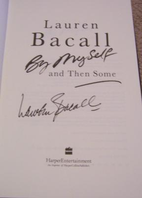 Lauren Bacall autographed By Myself and Then Some hardcover book