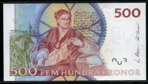 Banknotes; 500 Swedish Kroner banknote