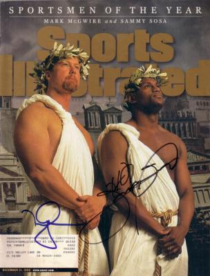 Mark McGwire & Sammy Sosa autographed 1998 Sports Illustrated