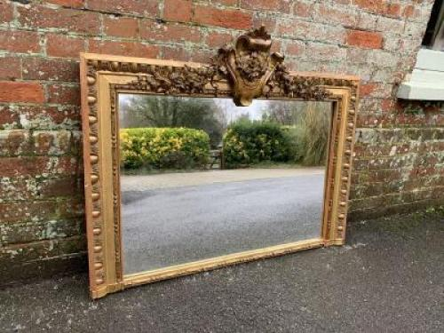 Large Antique Floor Mirror at Cleall Antiques, West Sussex, UK
