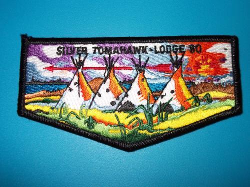 Boy Scout Silver Tomahawk Lodge 80 Tepee Flap