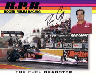 Ron Capps (NHRA) autographed 8x10 photo card