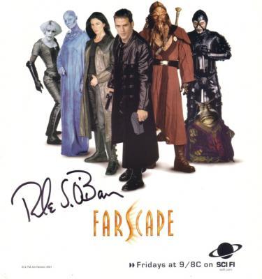 Rockne S. O'Bannon autographed Farscape cast photo