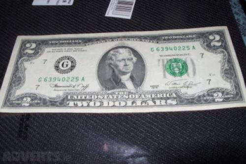 Two U.S. dollars in 1976