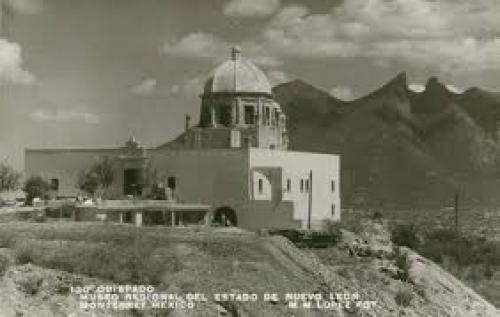 Postcard of the Obispado museum in Nuevo Leon, Monterrey, Mexico