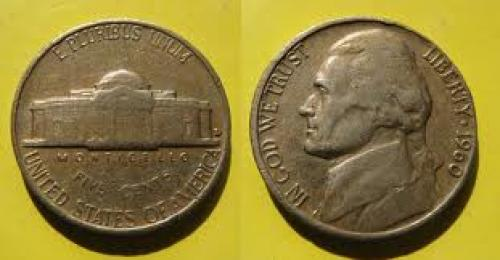 Coins;  United States Of America - Five Cents Year 1960