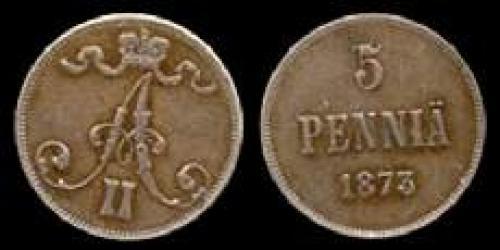 5 pennia 1865-1875 (km 4)