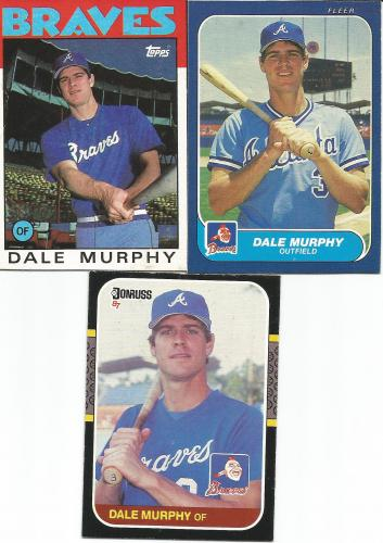 (3) Dale Murphy's Wax Box Cards * FREE SHIPPING *