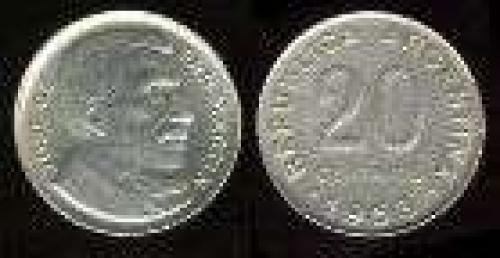 20 Centavos; Year: 1952-1953; (km 48a); nickel clad steel