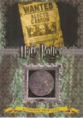 Harry Potter & the Half-Blood Prince prop card P12 Alecto Carrow Wanted Poster #29/240