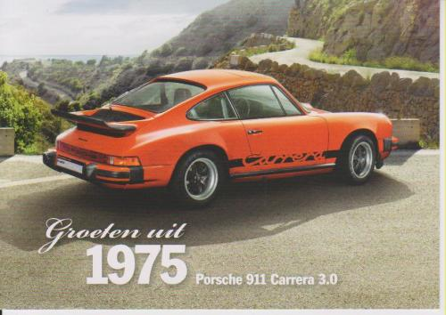 Porsche 911 Carrera 1975 postcard