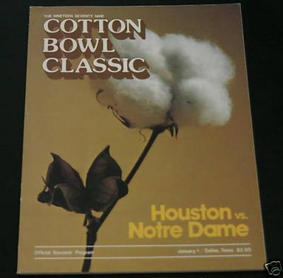 1979 Cotton Bowl program Joe Montana Notre Dame Chicken Soup Game