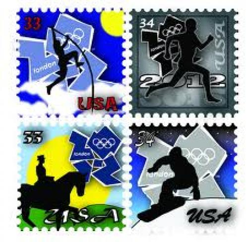 Stamps; USA : 2012 London Olympic Stamps.