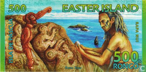 Easter Island 500 rongo 2012 UNC