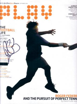 Roger Federer autographed 2006 PLAY magazine