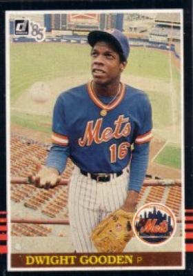 Dwight Gooden New York Mets 1985 Donruss box bottom Rookie Card