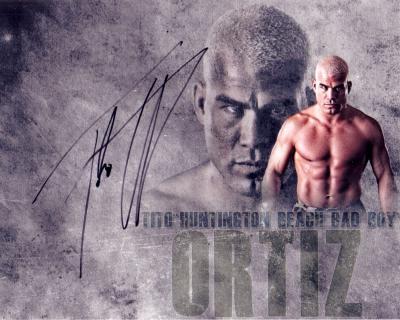Tito Ortiz autographed 8x10 MMA photo