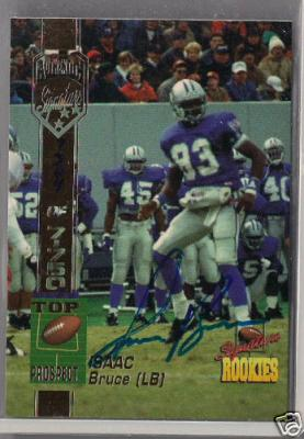 Isaac Bruce Memphis certified autograph 1994 Signature Rookies card