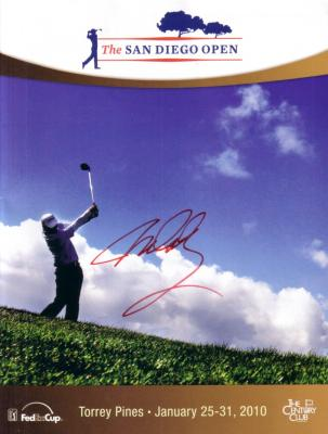 John Daly autographed 2010 Farmers Insurance Open golf program