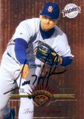 Trevor Hoffman autographed San Diego Padres 1997 Leaf card