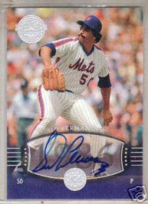 Sid Fernandez certified autograph New York Mets Upper Deck Legends card