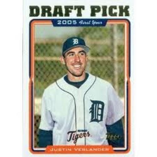 2005 Topps Baseball Card # 677 Justin Verlander (RC)