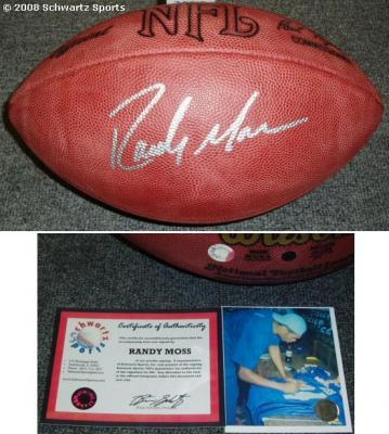 Randy Moss autographed NFL game football
