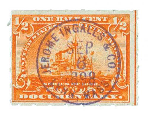 1/2c Battleship, orange