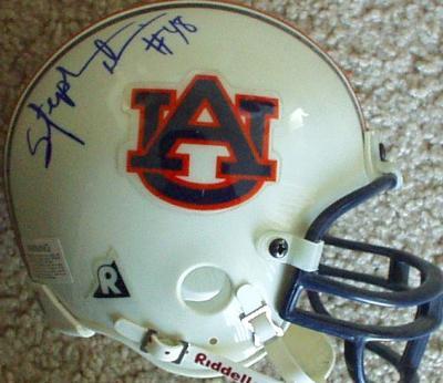 Stephen Davis autographed Auburn Tigers mini helmet