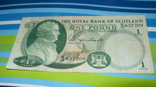 Scotland , 1 £ pound, 1967/Royal Bank/Robertson