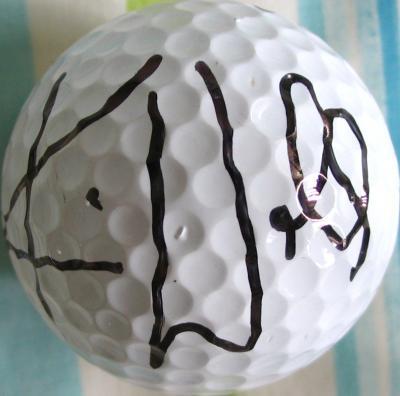Karrie Webb autographed golf ball