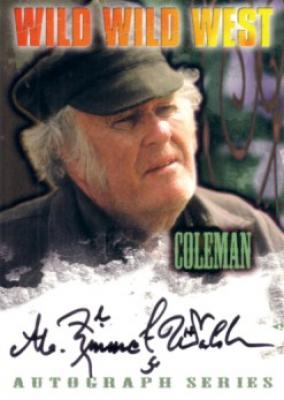 M. Emmet Walsh certified autograph Wild Wild West card