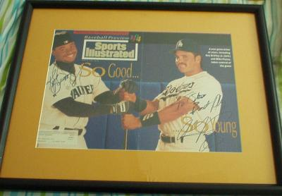 Ken Griffey Jr. & Mike Piazza autographed 1994 Sports Illustrated cover matted & framed