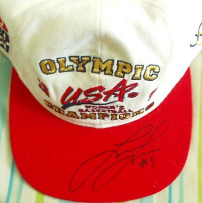 Lisa Leslie autographed 1996 USA Olympic Champions cap