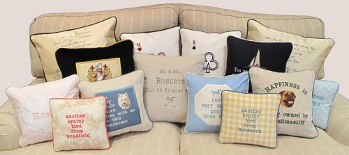 Personalised Cushions, Bespoke Cushions, Tailor Made Cushions, birthday cushions UK