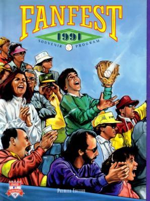 1991 All-Star Fanfest commemorative program & map