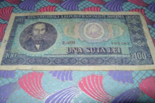 Romania 100 lei-1966