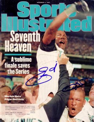 Edgar Renteria & Gary Sheffield autographed 1997 Florida Marlins Sports Illustrated