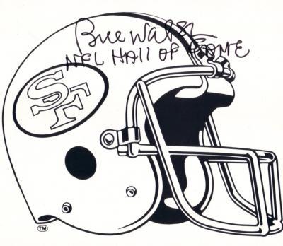 Bill Walsh autographed San Francisco 49ers helmet logo