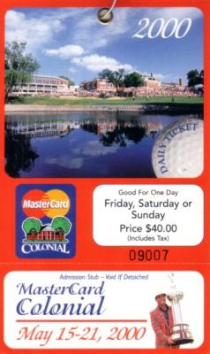 2000 Colonial unused ticket (Phil Mickelson)
