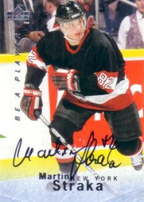 Martin Straka certified autograph 1995 Be A Player card