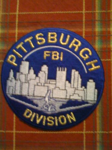 Rare Pittsburgh PA. Division FBI patch